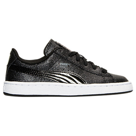 Girls' Preschool Puma Basket Holiday Glitz Casual Shoes