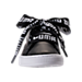 Front view of Women's Puma Basket Heart DE Casual Shoes in Black/White
