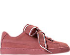 Women's Puma Suede Heart Satin Casual Shoes