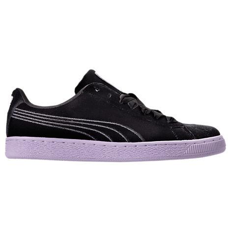 Women's Puma Basket Classic Velour Casual Shoes