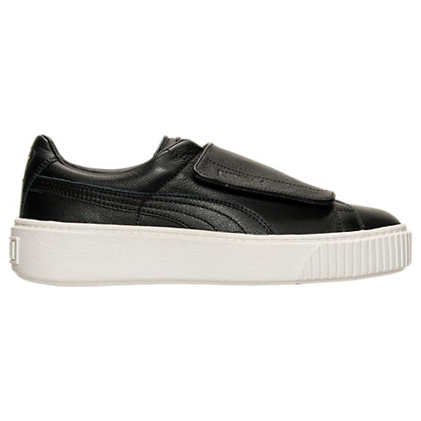 Women's Puma Basket Platform Strap Casual Shoes