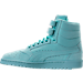 Left view of Men's Puma Sky II Hi Nubuck Casual Shoes in Aruba Blue