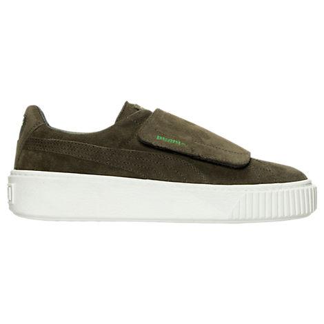 Women's Puma Suede Platform Strap Casual Shoes
