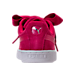 Back view of Girls' Grade School Puma Suede SNK JR Casual Shoes in Love Potion/Love Potion