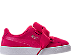 Girls' Preschool Puma Suede Heart SNK Casual Shoes