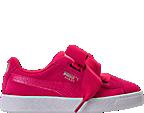 Girls' Preschool Puma Suede Heart SNK Casual Shoes