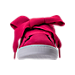 Front view of Girls' Preschool Puma Suede Heart SNK Casual Shoes in Love Potion/Love Potion