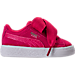 Right view of Girls' Toddler Puma Suede SNK Casual Shoes in Love Potion/Love Potion