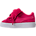 Left view of Girls' Toddler Puma Suede SNK Casual Shoes in Love Potion/Love Potion