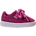 Right view of Girls' Toddler Puma Suede Heart Casual Shoes in Rose Violet