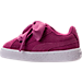 Left view of Girls' Toddler Puma Suede Heart Casual Shoes in Rose Violet