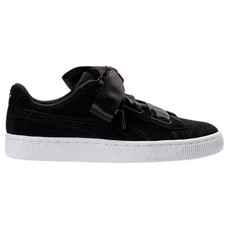 Girls' Grade School Puma Suede Heart Casual Shoes
