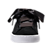 Front view of Girls' Grade School Puma Suede Heart Casual Shoes in Black