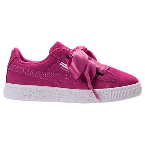 Girls' Preschool Puma Suede Heart Casual Shoes