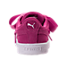 Back view of Girls' Preschool Puma Suede Heart Casual Shoes in Rose Violet