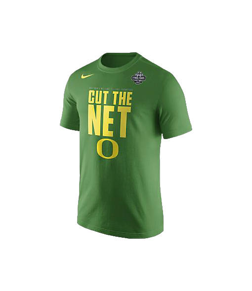 Men's Nike Oregon Ducks College Final Four 2017 Cut the Net T-Shirt