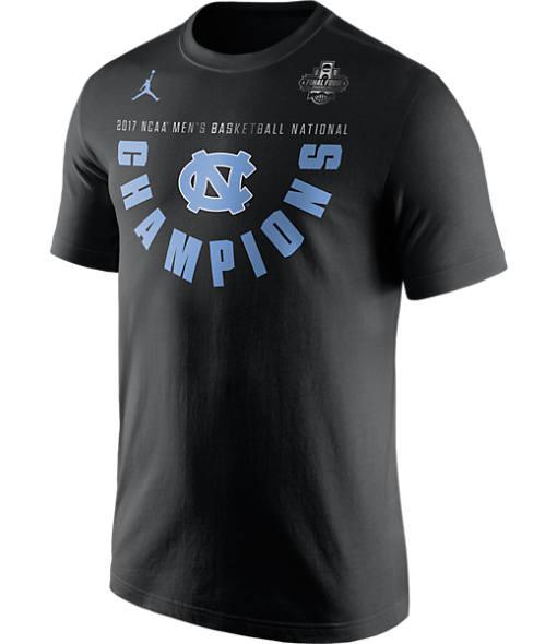 Men's Air Jordan UNC Tar Heels College Final Four 2017 Championship T-Shirt