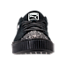 Front view of Women's Puma Suede Platform Crushed Jewel Casual Shoes in Black
