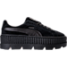 Right view of Women's Puma Fenty x Rihanna Suede Cleated Creeper Casual Shoes in Puma Black