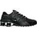 Right view of Men's Nike Shox NZ SL Running Shoes in Black/Graphite