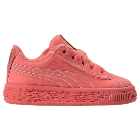 GIRLS' TODDLER BASKET CLASSIC VELOUR CASUAL SHOES, PINK