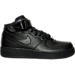Right view of Women's Nike Air Force 1 Mid Casual Shoes in Black/Black