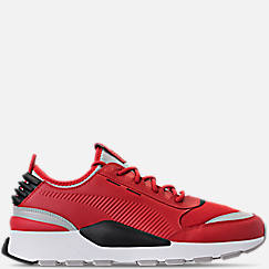 푸마 PUMA Mens Puma Evolution RS-0 Sound Casual Shoes,High Risk Red/Grey Violet/Puma Black