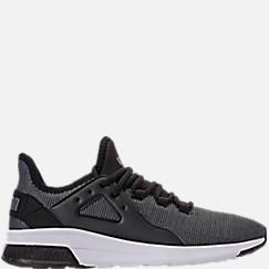 푸마 PUMA Mens Puma Electron Street Knit Trainer Casual Shoes,Puma Black/Iron Gate