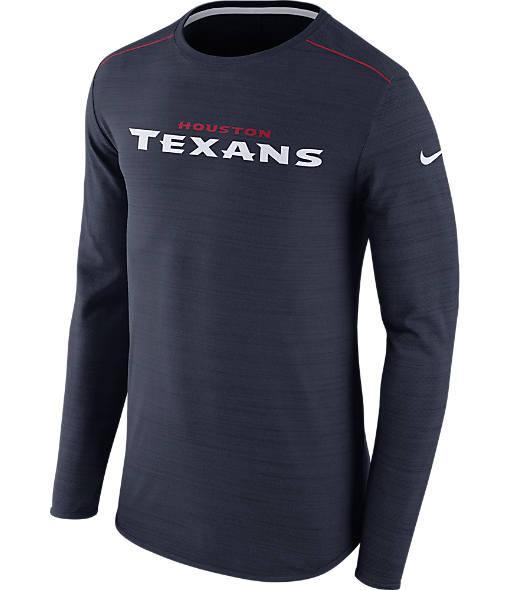 Men's Nike Houston Texans NFL Long-Sleeve Poly Player T-Shirt
