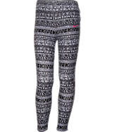Girls' Nike Leg-A-See Mashup Allover Print Leggings