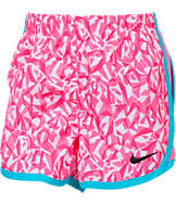 Girls' Nike Allover Print Tempo Shorts