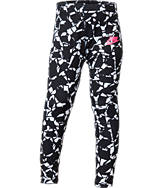 Girls' Preschool Nike Club Allover Print Leggings