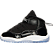 Left view of Kids' Toddler Jordan Retro 11 Basketball Shoes in Black/Concord/White