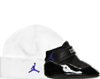 Infant Air Jordan Retro 11 Crib Shoes and Hat Set