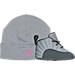 Right view of Air Jordan Retro 12 Crib Basketball Shoes in Wolf Grey/Vivid Pink/Cool Grey