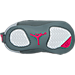 Bottom view of Air Jordan Retro 12 Crib Basketball Shoes in Wolf Grey/Vivid Pink/Cool Grey