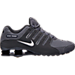 Right view of Men's Nike Shox NZ Running Shoes in Dark Grey/Metallic Iron Ore/Anthracite