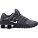Right view of Men's Nike Shox NZ Running Shoes in Dark Grey/Metallic Iron Ore/Anthracite