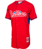 Men's Majestic Philadelphia Phillies MLB Ryan Howard Batting Practice Jersey