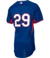 Men's Majestic Texas Rangers MLB Adrian Beltre Batting Practice Jersey