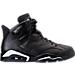 Right view of Men's Air Jordan Retro 6 Basketball Shoes in Black/Black/White
