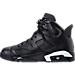 Left view of Men's Air Jordan Retro 6 Basketball Shoes in Black/Black/White