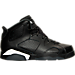 Right view of Boys' Preschool Air Jordan Retro 6 Basketball Shoes in Black/White