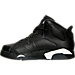 Left view of Boys' Preschool Air Jordan Retro 6 Basketball Shoes in Black/White