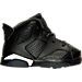 Right view of Boys' Toddler Air Jordan Retro 6 Basketball Shoes in Black/White