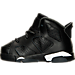 Left view of Boys' Toddler Air Jordan Retro 6 Basketball Shoes in Black/White