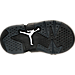 Bottom view of Boys' Toddler Air Jordan Retro 6 Basketball Shoes in Black/White