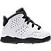 Right view of Boys' Toddler Air Jordan Retro 6 Basketball Shoes in White/Hyper Jade/Black