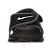 Front view of Boys' Toddler Nike Sunray Adjust 4 Sandals in Black/White/Anthricite