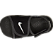 Top view of Boys' Toddler Nike Sunray Adjust 4 Sandals in Black/White/Anthricite